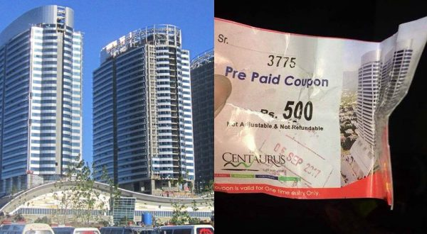 Men Would Have To Pay More If They Want To Enter The Centaurus Mall In Islamabad