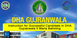 Instructions for Successful Candidates in DHA Gujranwala 5 Marla Balloting