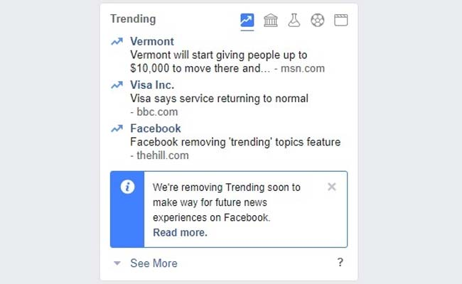 Facebook is removing its Trending Feature